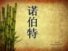 branches bamboo on old paper