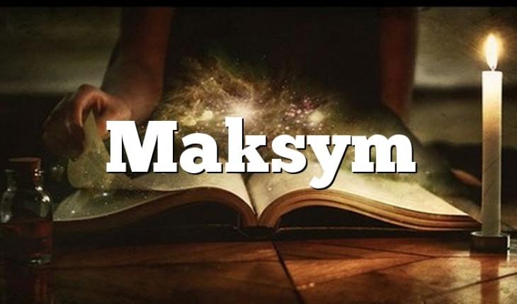 Maksym