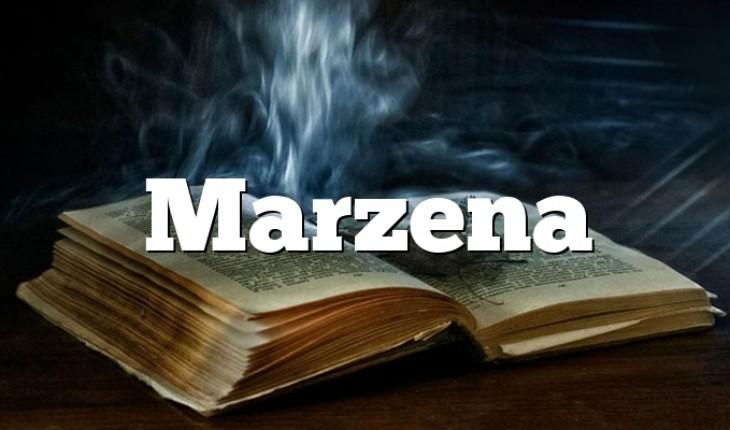 Marzena Zdrobnienia I Znaczenie Imienia Marzena